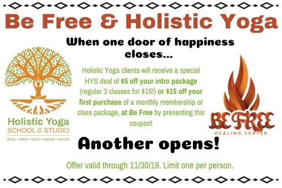 Be Free Yoga & Holistic Yoga